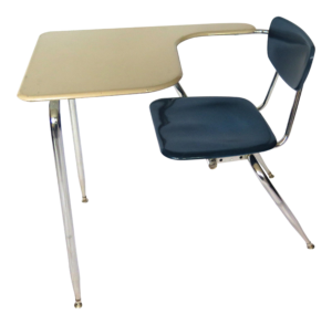 1960s mid century modern elementary school desk and chair set 1608