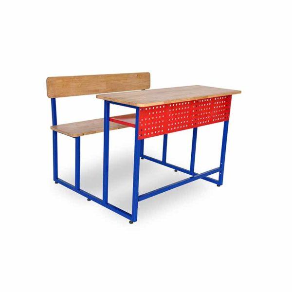 2 seater classroom desk bench optimo 2s