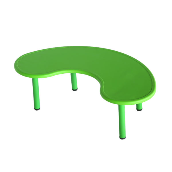 kids school table green color bean shaped