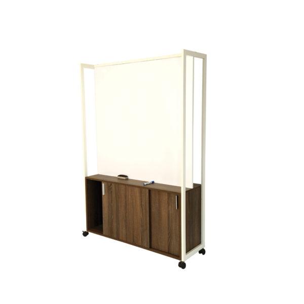 horizontal shelf storage demo board