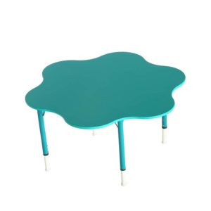 kids school table flower shape blue color