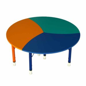 kindergarten round study table triplet 1