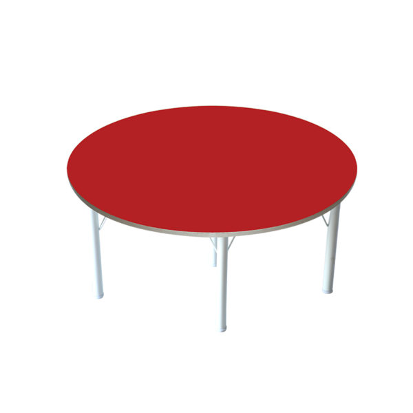 kindergarten round table red color