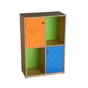 school multi colour storage cabinet ride