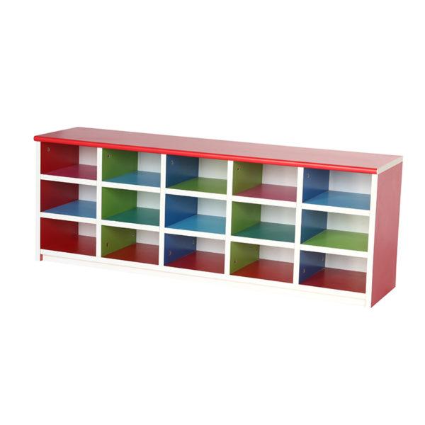 school multi colour storage shelving cos