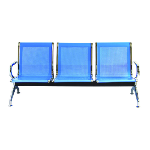 school office visitor seating chrome 3s