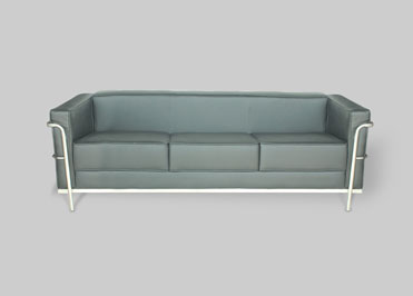 Three seater school admin office grey color sofa