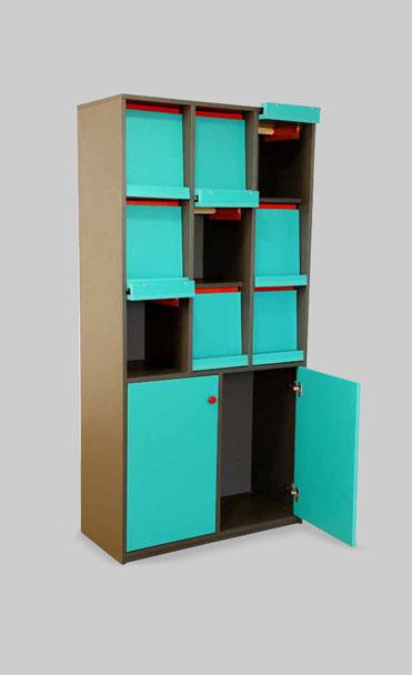 Blue colour school storage cupboards