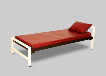 single cot bed with pillow for school hostels