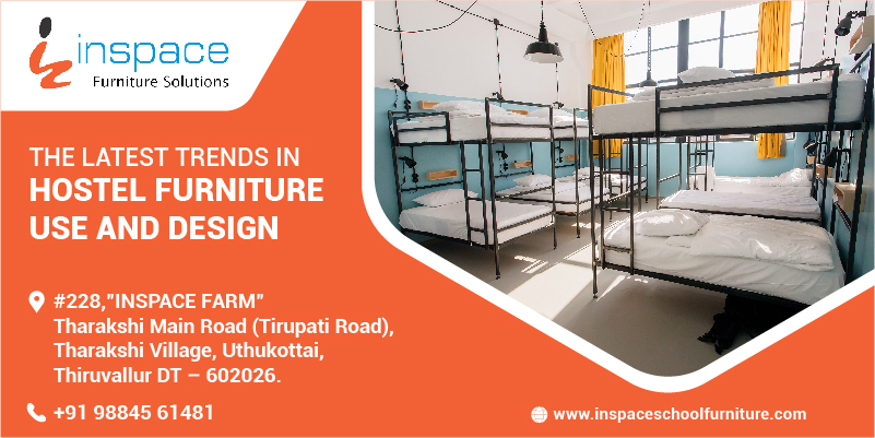 Double cot hostel furniture from Inspace School Furniture, Chennai